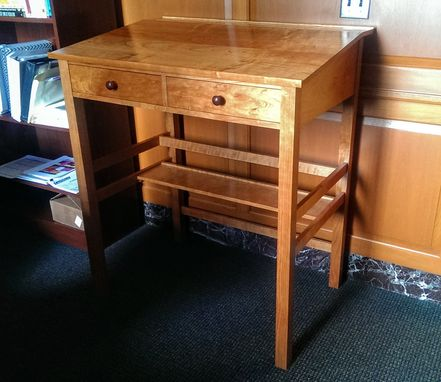 Custom Made Traditional Barrister Style Stand-Up Desk