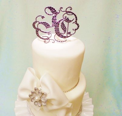 Custom Made Custom Crystal Wedding Cake Toppers