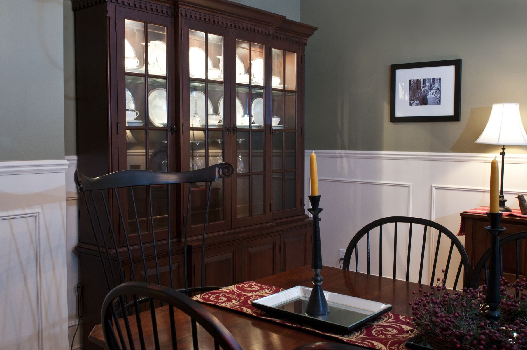 Hand Crafted Dining Room Hutch Duplication By Custom Wood