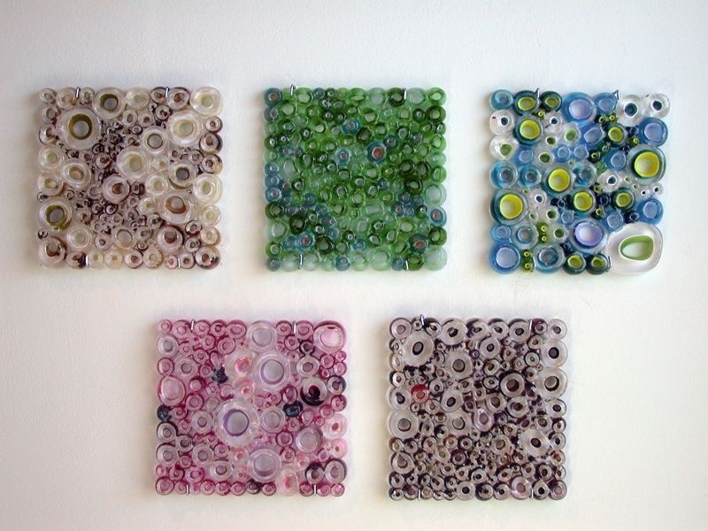 Handmade glass wall panel art work fused tubing series by wolf mattick glass studio custommade com