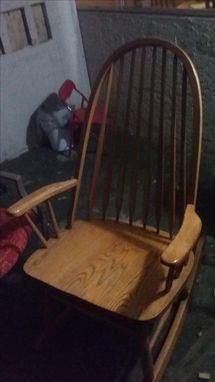 Custom Made Handcrafted Rocking Chair