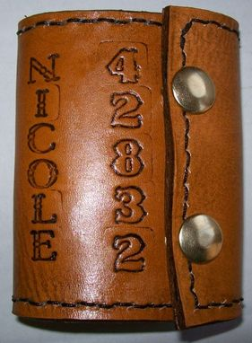 Custom Made Custom Leather Key Holder With Personalization And In Chestnut Stain
