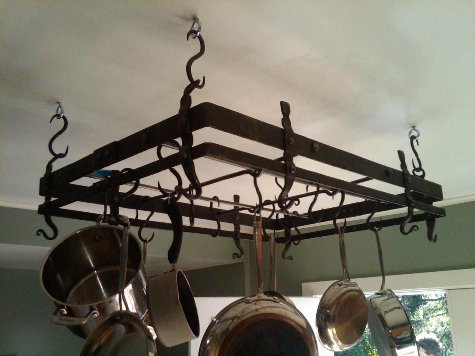 Hand Made Forged Pot Rack By Hellgate Forge Custommade Com