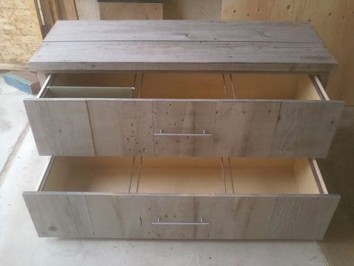 Custom Made Reclaimed Wood File Cabinet