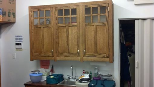 Custom Made Custom Cabinets To Fit An Odd Space.