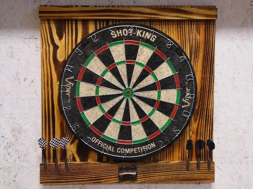 Custom Made Handcrafted Dartboard Backboard With Bottle Opener