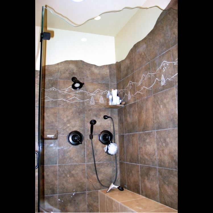 Handmade Sandblasted Porcelain Bathroom Tile by Artisan Fabricating ...