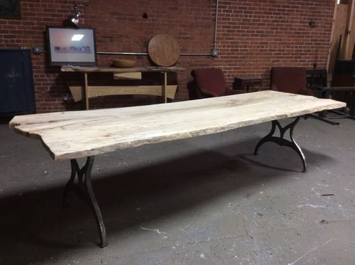 Custom Made Live Edge Dining Table, Local Spalted Hard Maple, 10 Fee Long, Ready To Ship