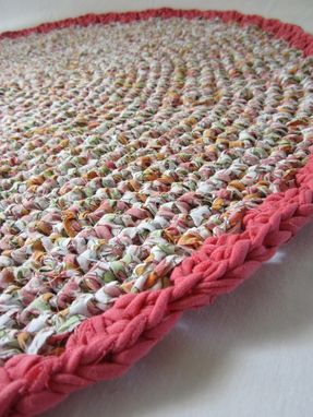 Custom Made Crocheted Rag Rug