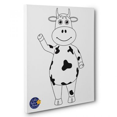 Custom Made Little Baby Bum Cow Kids Room Coloring Canvas Wall Art