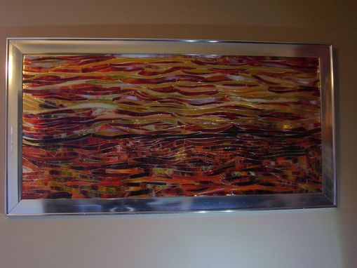 "Custom Made Flo-Saic Designed Art Glass ""Desert Sun"""