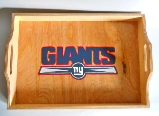 Custom Made Serving Tray With Team Logo