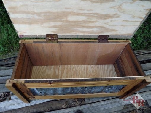 Custom Made Rustic Entry Storage Chest