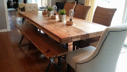 Custom Made Salvaged Wood Dining Table