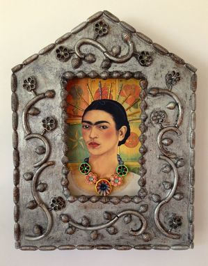 Custom Made St. Frida, Mixed Media Decorative Icon