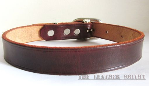 Custom Made Brown Leather Dog Collar 3/4 Inch Wide, Medium Dog Collar