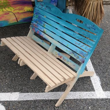 Custom Made Custom Hand Painted Or Stained Love-Seat Patio Chairs