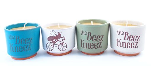 Custom Made Custom Ceramic Holders For Natural Beeswax Candles