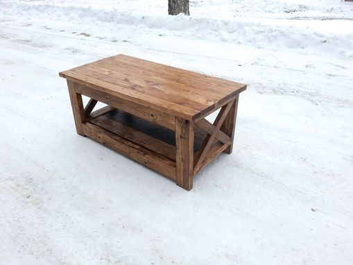 Custom Made Reclaimed Wood Rustic Style Coffee Table