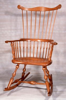 Custom Made Maine Windsor Comb-Back Rocking Chair
