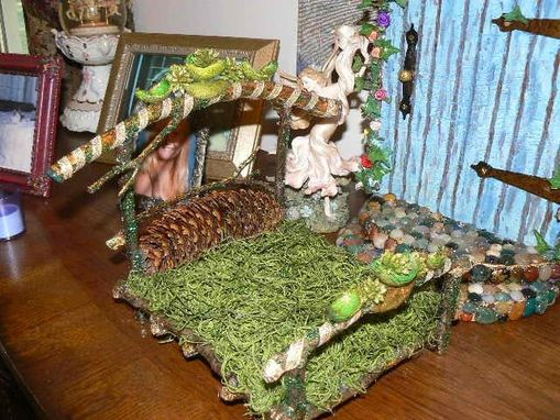 Custom Made Enchanted Emerald And Gold Fairy Bed