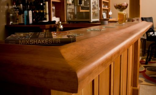 Custom Made Bar With Built-In Cabinetry
