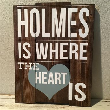 Custom Made 12x16 Multi-Board Custom Sign- Stained Wood