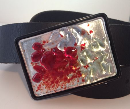 Custom Made Fused Glass Belt Buckle