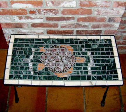 Custom Made Turtle Mosaic Table