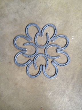 Custom Made New Horseshoe Flower Chair Pair