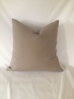 Custom Made Tan And Brown Striped Pillow Cover
