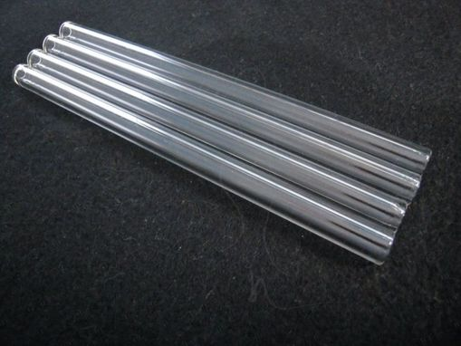 "Custom Made X4 - 8"" Glass Straws - Zero Waste - Smoothie Size - Vegan Friendly - Juicers - Emulsion Blenders"