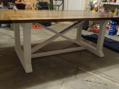 Custom Made X-Frame Farmhouse Style Table
