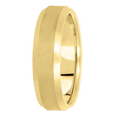 Custom Made Comfort-Fit Carved Wedding Band