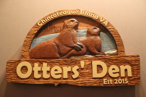 Custom Made Otter Signs | Home Signs | House Signs | Cabin Signs | Cottage Signs | Lodge Signs | Retreat Signs