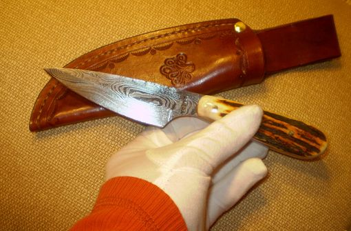 Custom Made Hunting Damascus Knife