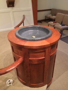 Custom Made Soapstone Baptismal Font