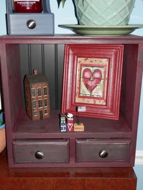 Custom Made Cookbook Cubby W/ 2 Drawers