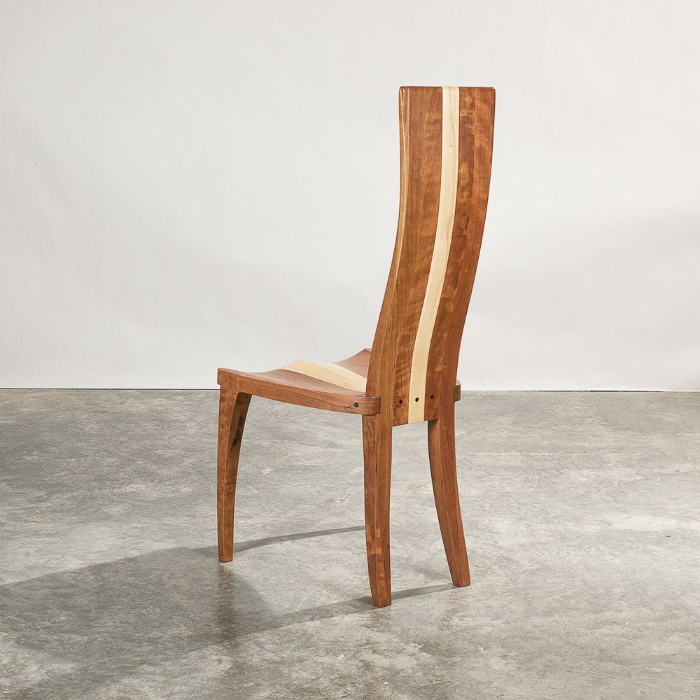 Hand Crafted Dining Chairs Wood Dining Chairs In Cherry And Curly