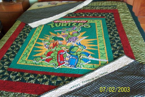 Custom Made Liscensed Print Quilts