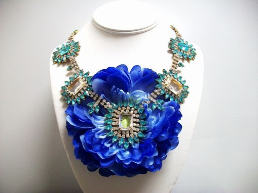 "Custom Made Flower Necklace ""Bloom''"