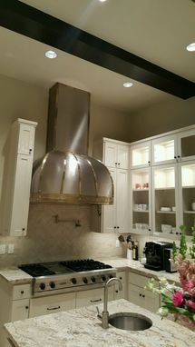 Custom Made The Brown, Brass And Stainless Range Hood