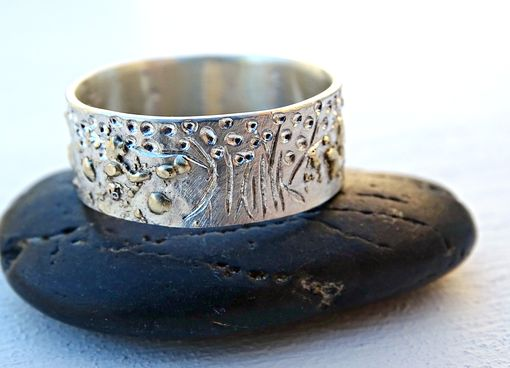 Custom Made Viking Wedding Band, Celtic Ring, Tree Of Life Ring Silver 14k Gold, Viking Promise Ring Landscape