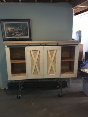 Custom Made Sliding Door Console Table