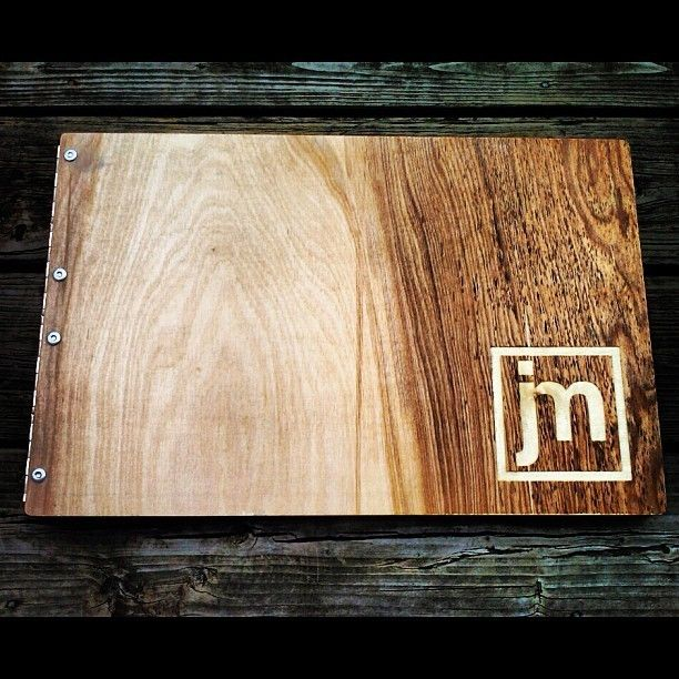 Wooden Wedding Album: Hand Crafted Custom Request Wooden Birch Portfolio/Album