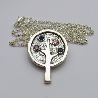 Custom Made Custom Personalized Birthstone Family Tree Necklace