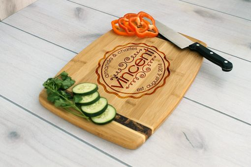 Custom Made Personalized Cutting Board, Engraved Cutting Board, Custom Wedding Gift – Cb-Bamm-Vincent
