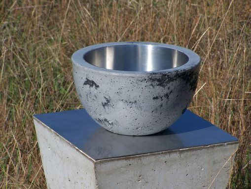 Custom Made Concrete Bowl With Stainless Interior
