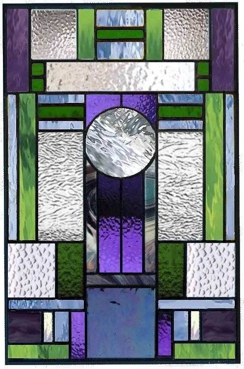 Hand Made Art Deco Stained Glass Window Style 15 By A