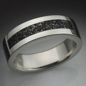 Meteorite Rings and Wedding Bands CustomMadecom